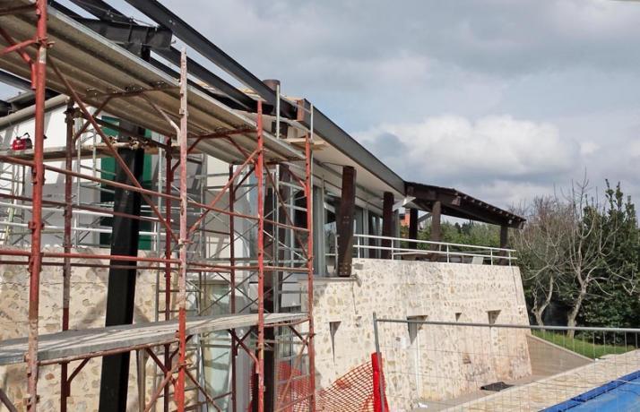 struttura in acciaio prefabbricata per ampliamento abitazione