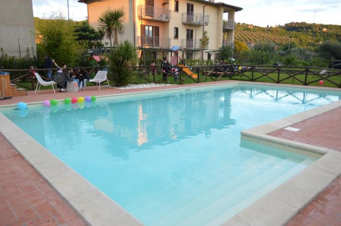 Hotel in Umbria con piscina vista panoramica