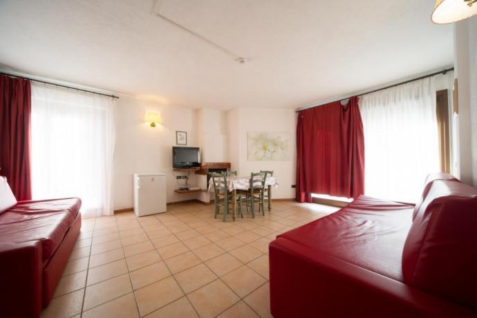Appartamento-vacanza monolocale-4persone Bardonecchia con tv e soggiorno