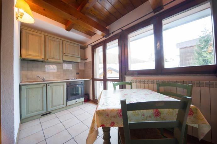 Appartamento monolocale 2/3 posti letto Bardonecchia con soggiorno