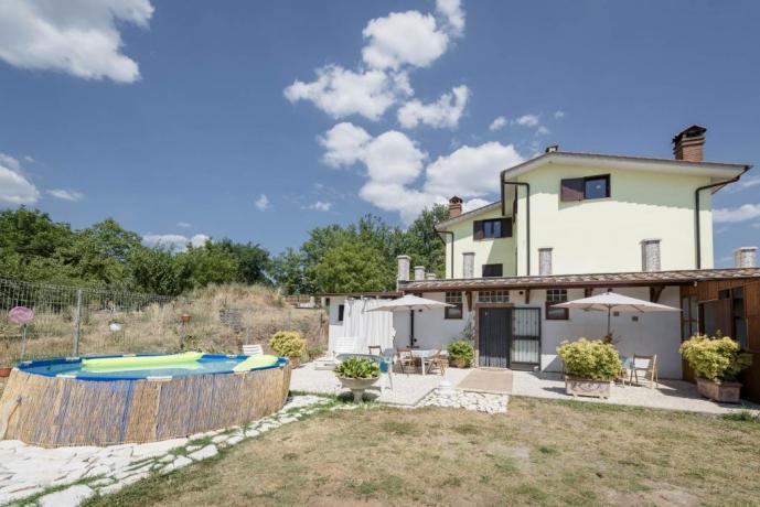 Casa vacanze a Vasanello con piscina e giardino