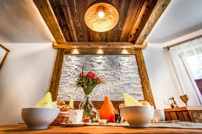 Abbondante colazione allo Chalet Alpino a S.Vigilio