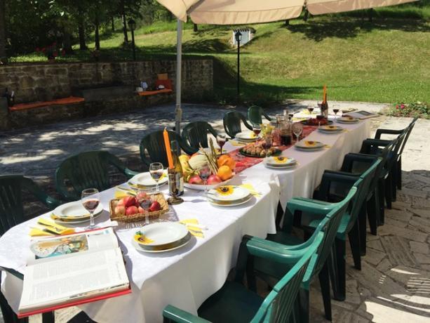 Casale Penta zona pranzo per gruppi