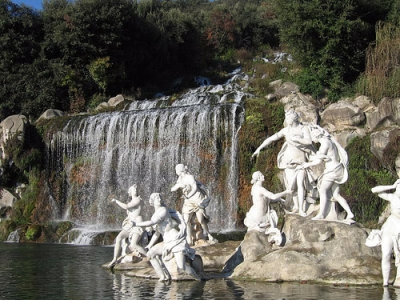 The fountain of Diana and Atteone at the castel of caserta