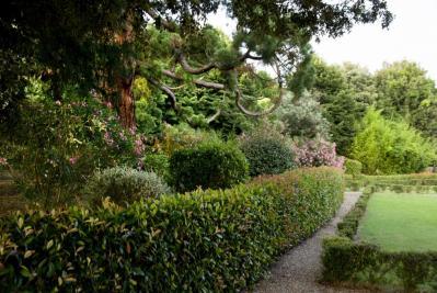 Il bellissimo parco della tenuta