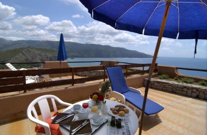 Vista panoramica terrazza hotel 4 stelle Palinuro