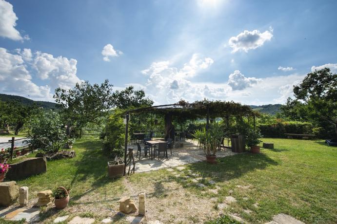 giardino e patio esterno per gli ospiti