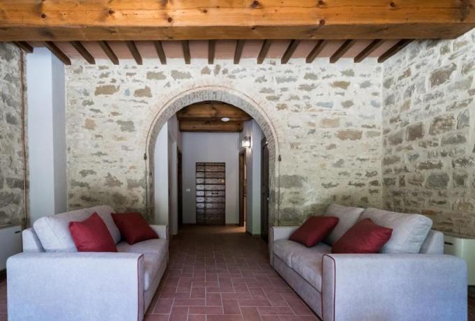 Sala relax con Vista in Agriturismo Gubbio/Perugia