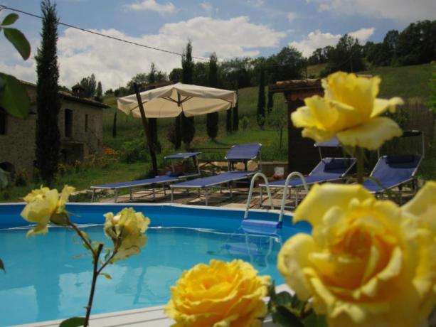 B&B con piscina a Montone