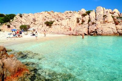 Holiday in Sardinia: Caprera, the beach