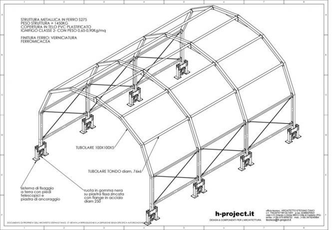 struttura prefabbricata a tunnel