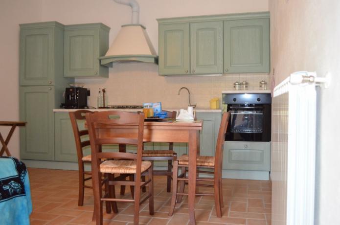 cucina attrezzata, appartamento in agriturismo a Montebuono