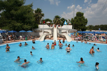 Swimmingpools and Waterslides at the Waterpark, Rome