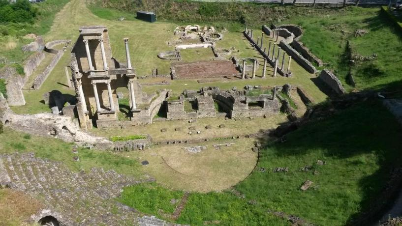 Resti archeologici a Volterra in Toscana