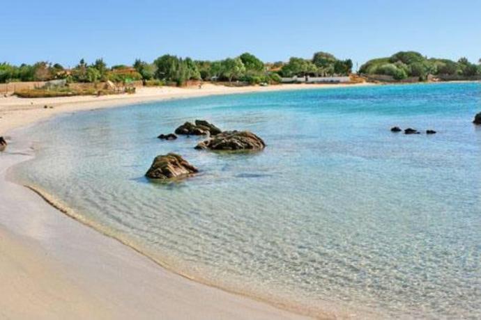 acqua cristallina nella splendida spiaggia di pittulongu