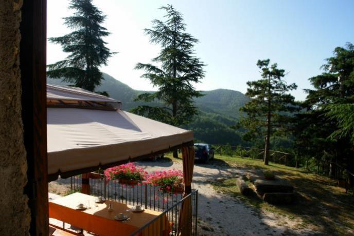 Agriturismo Gubbio panorama Parco Coppo, trekking, mountainbike