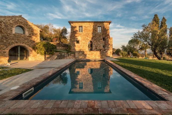 Villa lusso: piscina lunga 10 mt Lago Trasimeno