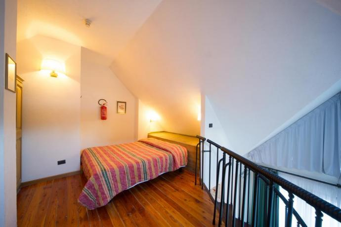 Trilocale 7persone residence-vacanze Bardonecchia con soppalco