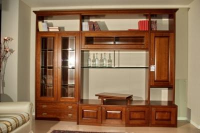 Parete soggiorno classica vendita soggiorni classici e for Mobili salone classici