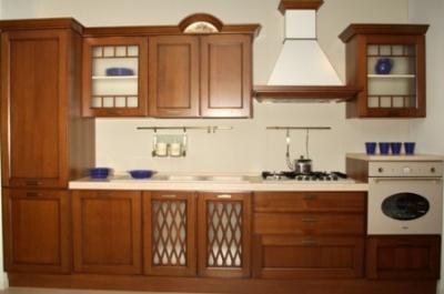 Cucina classica in noce color marrone cucine componibili - Cucina componibile prezzi ...