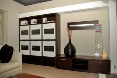 MOBILE SOGGIORNO moderno in wengè e struttura in legno tinto al ...