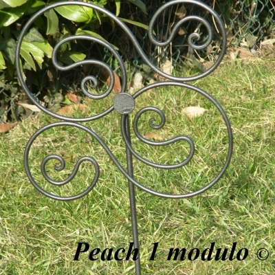 Modulo singolo in ferro battuto per aiuole produzione e for Decorazioni giardino aiuole