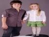 Camicia bambini maniche lunghe modello slim