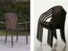 sedia da esterno impilabile, sedia alto design da