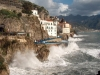 waves on the Amalfi coast
