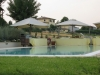 Another view of the relaxing swimming pool in Cortignano House