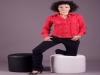 Camicia donna con rouge maniche lunghe modello sli