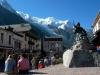 Walking in Chamonix on Monte Bianco