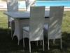 sedia schienale alto per esterno, sedie e tavolo