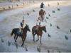 il palio medievale con le gare di cavalli a Sulmon