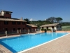 Country house and swimming pool view