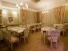 Elegante sala ristorante all'interno dell'albergo