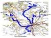 Mappa dei percorsi: Valle santa e santuari