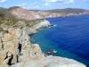 Cliff on the island of San Pietro