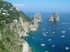 The island of Capri and the seacliffs