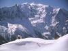 Sciare a Chamonix, monte bianco