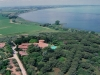 Aerial view of the Cottage La Villetta