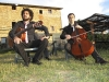 Musicisti in pausa in agriturismo a Umbertide