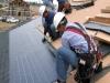 pannello solare converte i raggi solari e infraros
