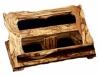Leggii regolabili in legno massello di olivo,