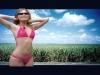 Bikini rosa con perizoma della Repubblica Dominicana