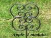 Modulo decoro giardino in ferro battuto